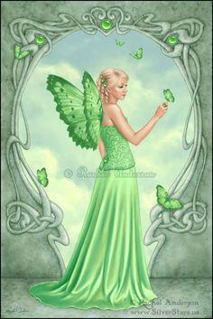 Birthstones - Peridot - rachel-anderson-fairy-and-fantasy Photo Baby Fairy, Love Fairy, Kobold, Elves And Fairies, Images Of Fairies, Fairy Pictures, Beautiful Fairies, Flower Fairies, Fairy Art