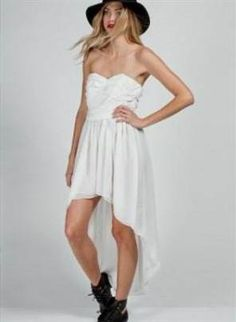 Awesome high low dresses strapless white