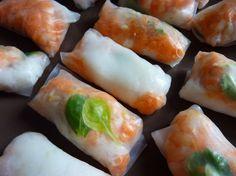 Recette petits rouleaux de printemps : Une recette adorée par mes enfants !.Ingrédients : riz, carotte, menthe, vermicelle