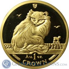 1995 Isle Of Man 1 oz Proof Gold Cat http://www.gainesvillecoins.com/buy-gold.aspx