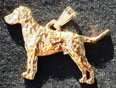 George Harris Akita Dog 24k Gold Plated Pewter Pendant