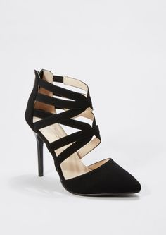 image of Black Cross Strap Pump by Anne Michelle®