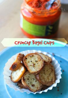 [Quick Snacks] Crunchy Bagel Chips | Now you know what to do with those hard-to-chew bagels. Get the #Recipe here --> http://www.cookingwithsiri.com/2015/02/quick-snacks-crunchy-bagel-chips-recipe.html