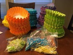 Many VBS themes relate to water, so this DIY Coral Reef can be used over and ove. Vbs Themes, Ocean Themes, Under The Sea Theme, Under The Sea Party, Coffee Filter Coral, Coffee Filters, Coral Reef Craft, Under The Sea Decorations, Ocean Party