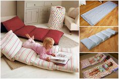 DIY easy roll up pillow bed or mattress tutorial