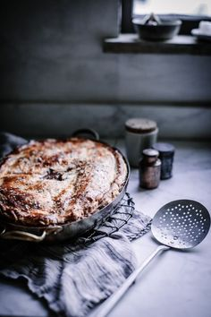 vegetarian wild mushroom, thyme, camembert, and fennel pot pie for thanksiving, christmas, or cozy winter nights by Beth Kirby | Local Milk