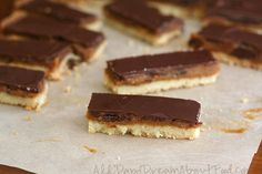 Low Carb Homemade Twix Bars.  tender almond flour shortbread base with rich caramel and creamy milk chocolate.