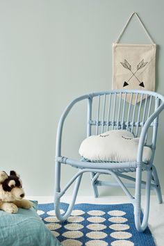 Jotun SENS 07 i fargen 7555 Soft Mint. Home Bedroom, Bedroom Wall, Kids Bedroom, Bedroom Decor, Mint Walls, Kids Room Paint, Modern Kitchen Design, Wall Colors, Ikea