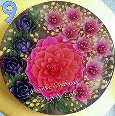 3D jelly flowers Cake