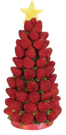 decoracion de mesa navideña con frutas y verduras - Buscar con Google