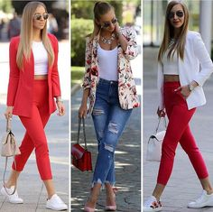 Style statement outfit ideas – Just Trendy Girls Casual Work Outfits, Business Casual Outfits, Professional Outfits, Office Outfits, Classy Outfits, Cute Outfits, Look Blazer, Look Fashion, Womens Fashion
