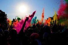 holi celebration of colors