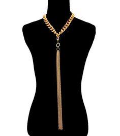 BIG GOLD EGYPTIAN TASSEL CHOKER Statement Necklace Celebrity Inspired