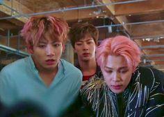 Seokjin, Hoseok, Namjoon, Taehyung, Bangtan Bomb, Bts Jungkook, Jimin Pink Hair, Bts Not Today, Highlighted Bangs