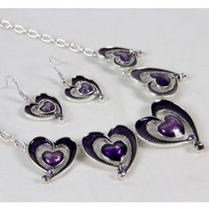 This is Pleasant Purple Jewelry Set - $8