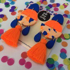 Peachy Tangerine Dream Fiesta Dangles