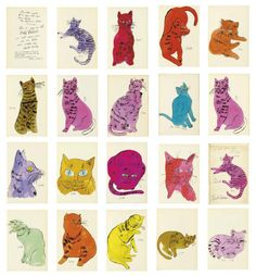 Andy Warhol. Many cats
