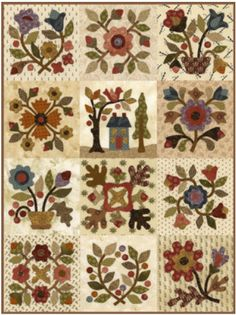 Lori Smith Quilts: From my heart to your hands Aplique Quilts, Wool Applique Quilts, Applique Quilt Patterns, Patch Aplique, Hand Applique, Quilting Projects, Quilting Designs, Sampler Quilts, Miniature Quilts