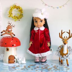 Red Celebration II . Doll clothes for Disney animator dolls 16.  Hat included. Dolls , shoes and accessories not included. :)