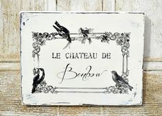 Le Chateau De : Wedding Gift French Sign-Customized in Cream via Etsy
