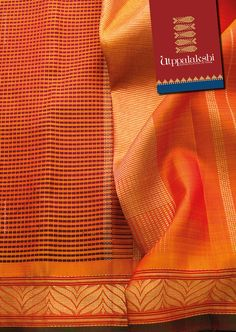 Bring out the trendy and the traditional you in this orange saree. Maroon string-pearl print adorns the body of the saree flanked by a floral border and golden pallu.#Utppalakshi #Sareeoftheday#Silksaree#Kancheevaramsilksaree#Kanchipuramsilks #Ethinc#Indian #traditional #dress#wedding #silk #saree#craftsmanship #weaving#Chennai #boutique #vibrant#exquisit #pure #weddingsaree#sareedesign #colorful #elite