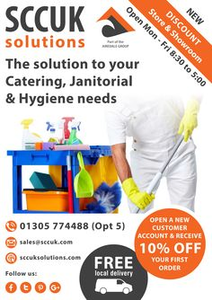 SCCUK Solutions discount store and showroom.  The Solution to your Catering, Barware, Janitorial & Hygiene needs. We offer great discounts on bulk buy items. It's certainly worth popping along to our showrooms at Lynch lane, Weymouth DT4 9DN.  We are open to trade and the general public. No account needed to purchase.  Buy more for less at SCCUK!