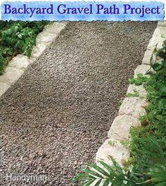 Backyard Gravel Path Project