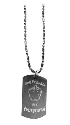 Military Necklace Sushi Pattern Custom Zinc Alloy Pendant Necklace Dog Tags