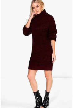 Tillie Chunky Roll Neck Jumper Dress