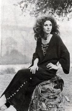 The late Egyptian beauty Soad Hosny in Azza Fahmy design on the set of 'Chafika Wa Metwally' Cairo, 1979