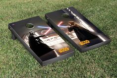 Star Wars Cornhole Game Set Darth Vader Obi Wan Kenobi Lightsaber Battle Version