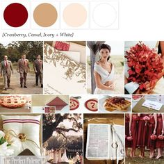 Cranberry, Camel, Ivory + White... http://www.theperfectpalette.com/p/color-palettes_17.html
