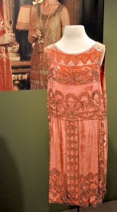 Rose's flapper dress costume. From the exhibit at Winterthur Museum. Downton Abbey Costumes Jacquelynne Steves