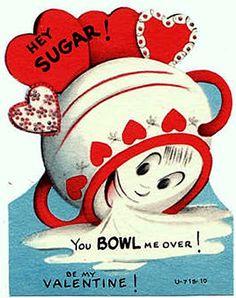 You Bowl Me Over - vintage valentine.