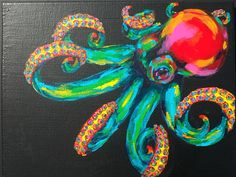 Technocolor Octopus. $85.00, via Etsy.