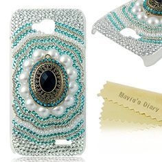 Mavis's Diary 3D Handmade Black Crystal Retro Diamond with White Pearls and Blue Bling Rhinestone Clear Back Cover Case with Soft Clean Cloth for LG Optimus L90 Mavis's Diary http://www.amazon.com/dp/B00MPFYVFS/ref=cm_sw_r_pi_dp_z9ODub1BHRP45