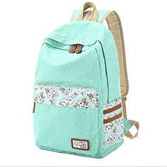 Artone Lightweight Canvas Floral Printed Casual Daypack College Backpack Aqua Artone http://www.amazon.com/dp/B00ZFHX816/ref=cm_sw_r_pi_dp_ShV1vb127866T