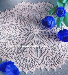 10 Awesome Crochet Tableclothes ~ Free Patterns   Free Crochet Patterns