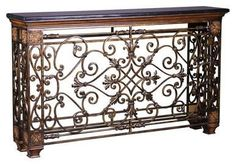 Console Table AMBELLA HOME ROCKEFELLER Reproduction Acanthus Leaf Accents AH-74