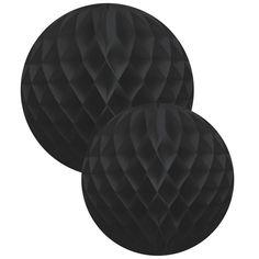 Set of 2 black paper balls by Delight for Esprit Nordik