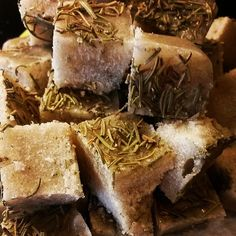 Foamy Sugar Scrub Cubes  Organic Sugar Scrub  Rosemary by LitandCo