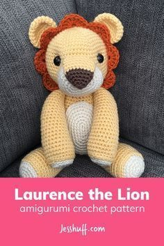 Free Pattern! Laurence the Lion Amigurumi Pattern - #amigurumi #freepattern #crochet