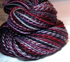 Handspun Yarn Two Ply Superfine Blue Faced by SheepingBeauty, $46.00