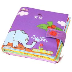 One Piece Retail Baby Toys Infant Kids Early Development Cloth Books Colorful Educational Activity Book Boy Series for Children