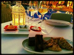 """Every Thursday Evening we welcome you to enjoy a Greek """" Meze"""" Experience @ Impression's . A sneak peak at one of the many plates ! Greek Meze, Hotel Spa, Best Hotels, Thursday, How To Memorize Things, Lunch, Restaurant, Plates, Meals"""