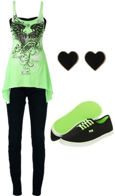 """""""green"""" by karlibugg ❤ liked on Polyvore"""