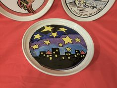 (3) Rare BENNINGTON POTTERS Mid Century Abstract Plates – DAVID GIL – Pop Art - | eBay Bennington Pottery, Thing 1, Pop Art, Mid Century, David, Plates, Abstract, Ebay, Licence Plates