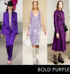 Punchy purple hues, splashed on luxe fabrics like crushed velvet, satin and suede, have all the makings to become different shades of the new It color. We're stocking up for fall and wearing from now through spring (or just forever)