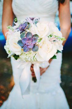 Beautiful and classic bridal bouquet, photo by Pat Furey Photography | via junebugweddings.com