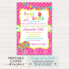 Candy themed baby shower digital invitations little sweetie candy themed baby shower digital invitations little sweetie colorful invitation lollipop jelly bean sweets candy baby shower printable baby shower filmwisefo